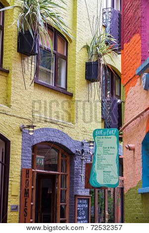 London -august 16: Hauses At Neal's Yard On August 16, 2014 In London. Neal's Yard Is  Is A Small Al