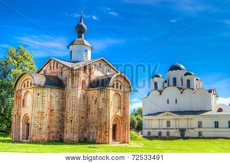 Russia Veliky Novgorod Church  St Paraskeva Speculations Dvorishche Cathedral Of St. Nicholas