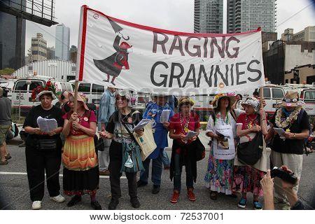 Raging Grannies sing