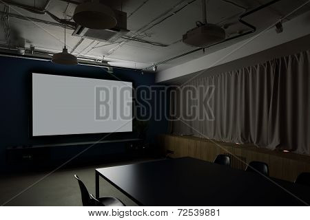 Projector Room In Stylish Office