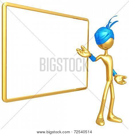 Djinn With Blank Sign
