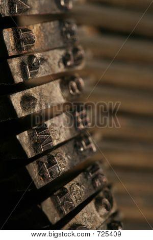 Clogged Old Typewriter Keys