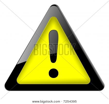 Danger sign. icon vector.