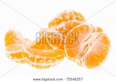 Peeled Tasty Sweet Tangerine Orange Mandarin Fruit