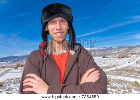 Mountain teen