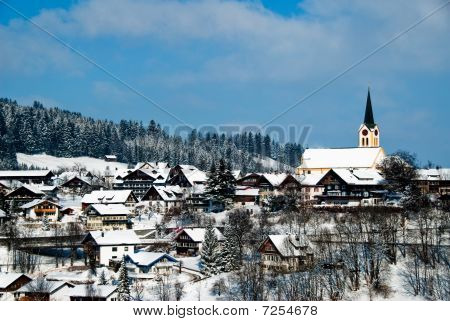 The Town Of Oberstaufen, Allgau, Germany