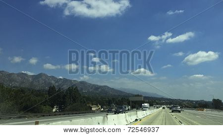 Major Highway Traffic In Sunland-tujunga, Ca