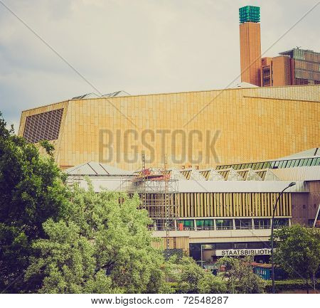 Retro Look Berliner Staatsbibliothek