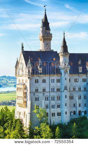 Neuschwanstein Castle - Closeup View