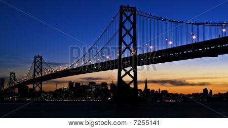 City under a bridge
