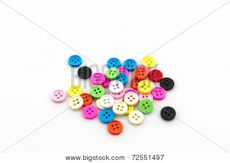 Decorative Colorful Vintage Sewing Buttons.