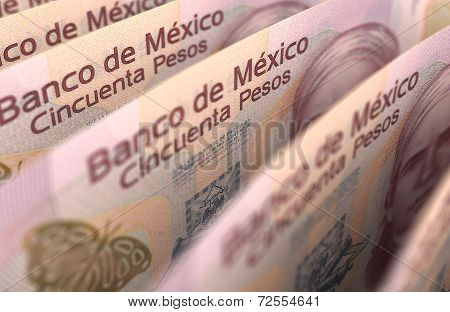 Mexican Pesos Closeup