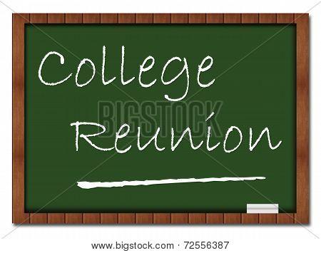 College Reunion Classroom Board