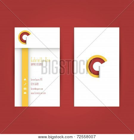 Modern Colorful Business Carde Template With Alphabet Letter G