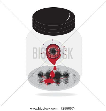 Abstract Eye With Blood Halloween Style