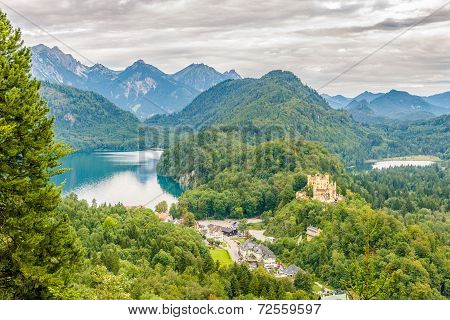 View At The Hohenschwangau Castle And Schwansee