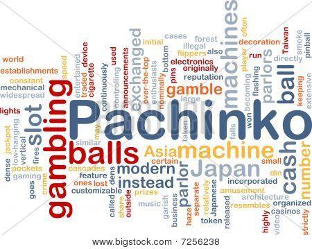 Pachinko Gambling Background Concept