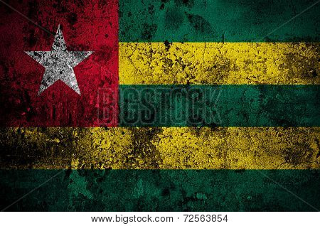 Grunge Flag Of Togo With Capital In Lome