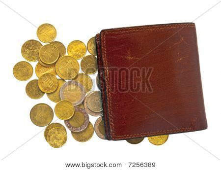 Few  Coins And Wallet