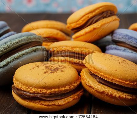 Pile Of Delicious Macaroons