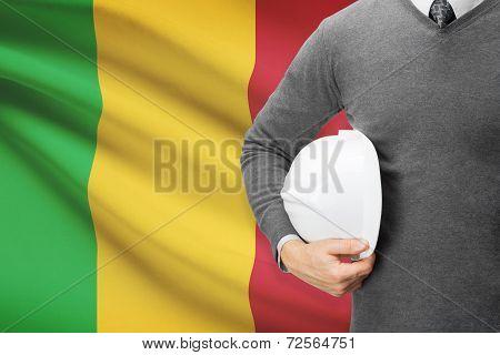 Architect With Flag On Background  - Mali