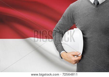 Architect With Flag On Background  - Monaco