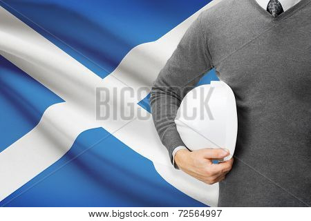 Architect With Flag On Background  - Scotland