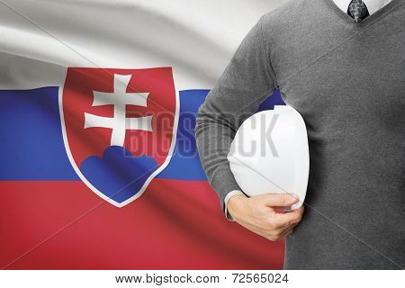 Architect With Flag On Background  - Slovakia