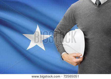 Architect With Flag On Background  - Somalia