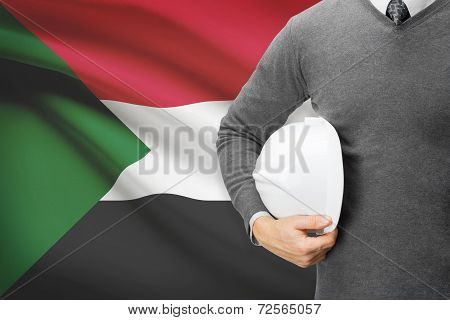 Architect With Flag On Background  - Sudan