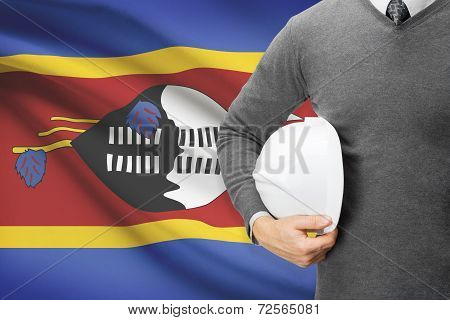 Architect With Flag On Background  - Swaziland