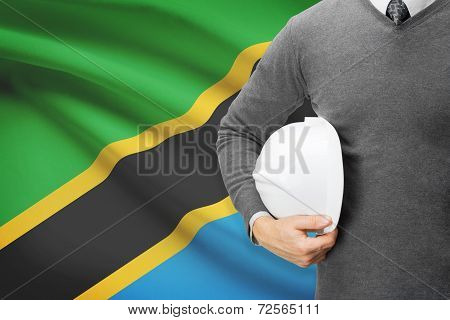 Architect With Flag On Background  - Tanzania