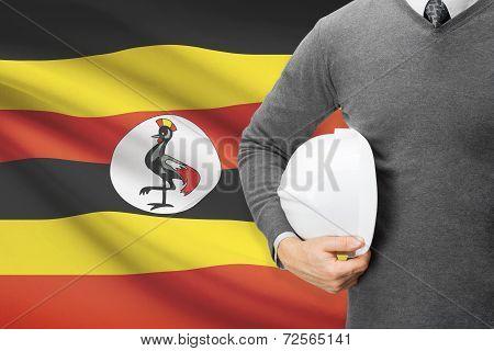 Architect With Flag On Background  - Uganda