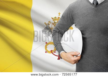 Architect With Flag On Background  - Vatican City State