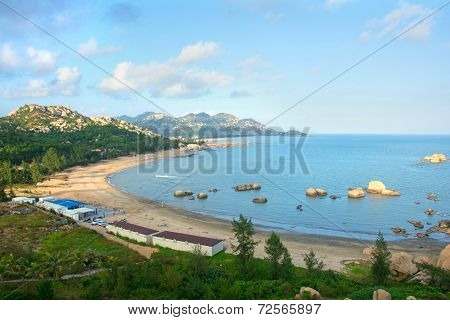 Rock mountains and sea bay