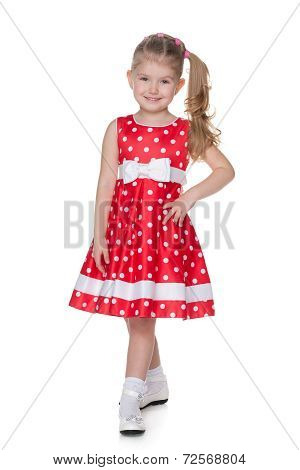Pretty Little Girl In The Polka Dot Dress