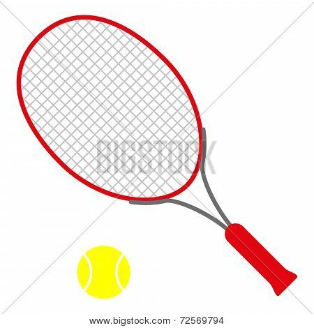 Red Tennis Racket
