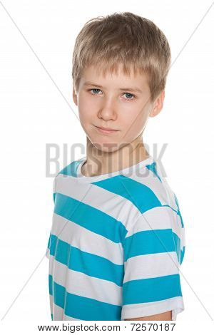 Portrait Of A Preteen Boy