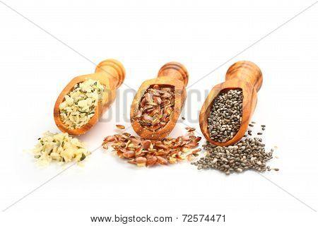 Superfoods In Wooden Scoops