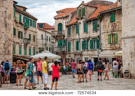 Architecture Of The Old Town In Split, Croatia.