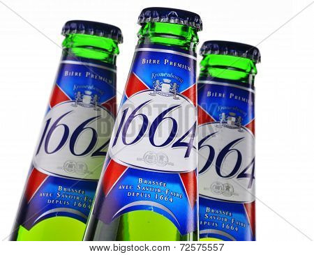 Bottle Of Kronenbourg 1664 Beer Isolated On White