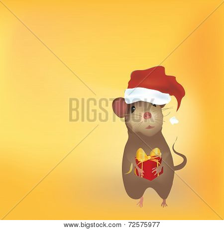 Christmas Card with Mouse