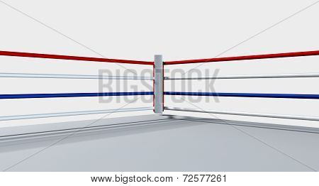 Boxing Ring Isolated White