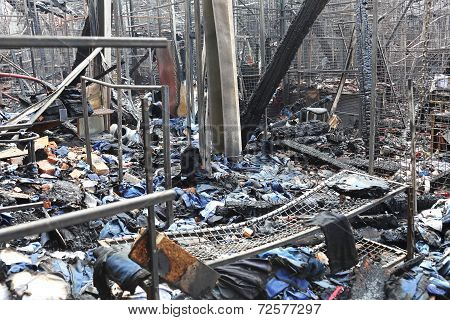 Burned Factory