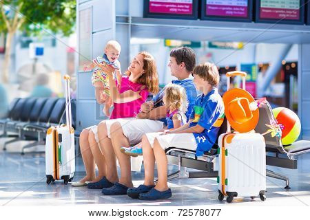 Cute Family At The Airport