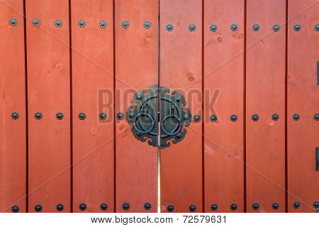 Wooden Door Korean Style