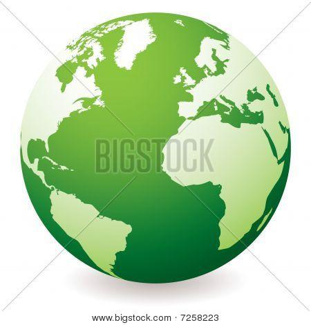 Green Earth Globe