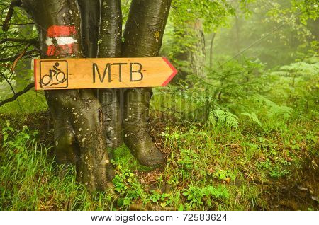 Bike Route Signboard