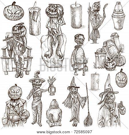 Halloween, Jack O Lantern - An Hand Drawn Vector Pack