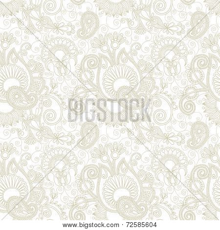 vintage floral seamless paisley pattern